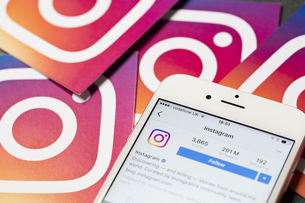 instagram to reach a large audience