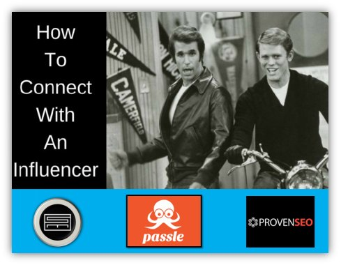 Connect with an influencer