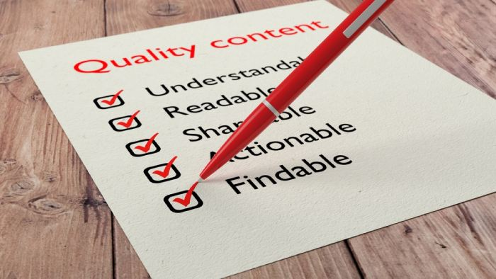 Consistently Create Quality Content